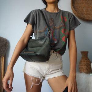 Fossil Bags - Fossil Dark Green / Black Leather Shoulder Bag